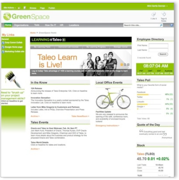 Taleo SharePoint Intranet