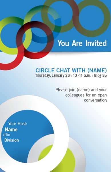 Circle Chat Poster