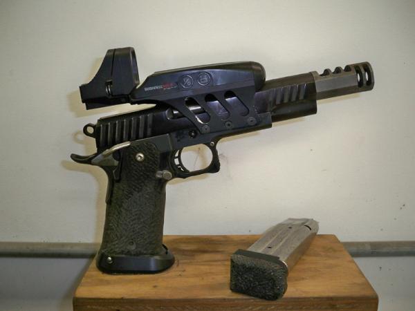 Holographic Open gun