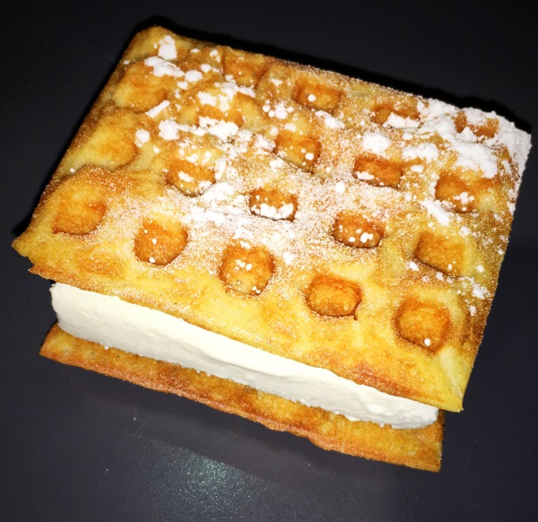 Vanilla Waffle and Ice Cream Sandwich