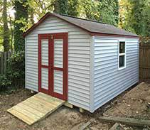 Link to info: 10x12x8.5 back yard shed with vinyl siding.