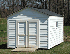 Link to The Potomac storage shed design gallery by Five Star Sheds.