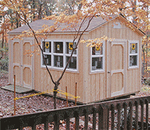 link to info: 10x15x9.5 customized shed with lots of windows.