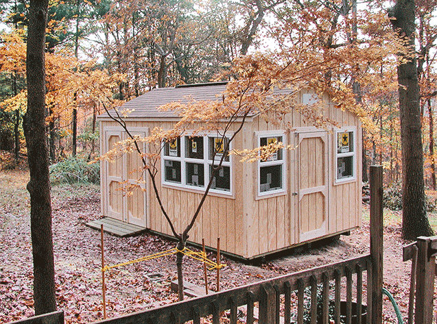 10x15x9.5 customized shed with lots of windows. Our Potomac style in wood.