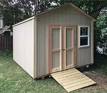 Link to info: 10x12x9.5 storage shed in wood.