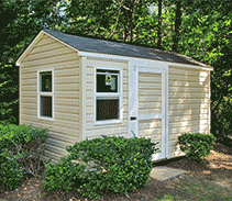 Link to info: 8x12x8 playhouse and garden shed combo in vinyl siding.