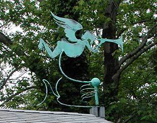 A customized weather vane for a 16x10x9.5 Five Star Shed.
