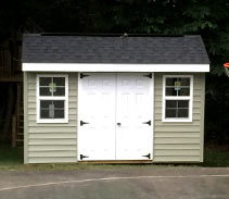 Link to info: 12x8x8 shed for toy cars and sporting equipment storage.