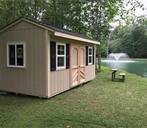 Link to info: 12x10x9.5 storage shed for fishing and picnic supplies.