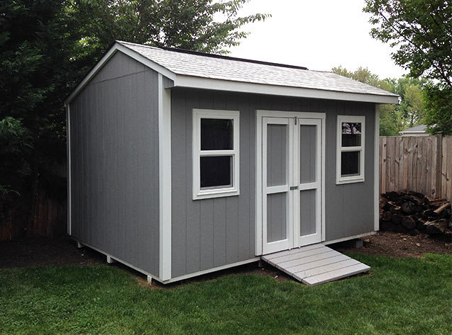 Link to info: 14x10x9.5 shed for garden tools and bicycle storage. This is our cottage style Elite design in wood.