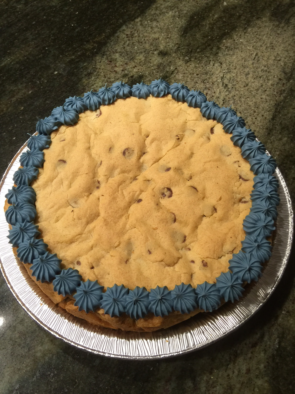 Chocolate Chip Cookie Cake - Round