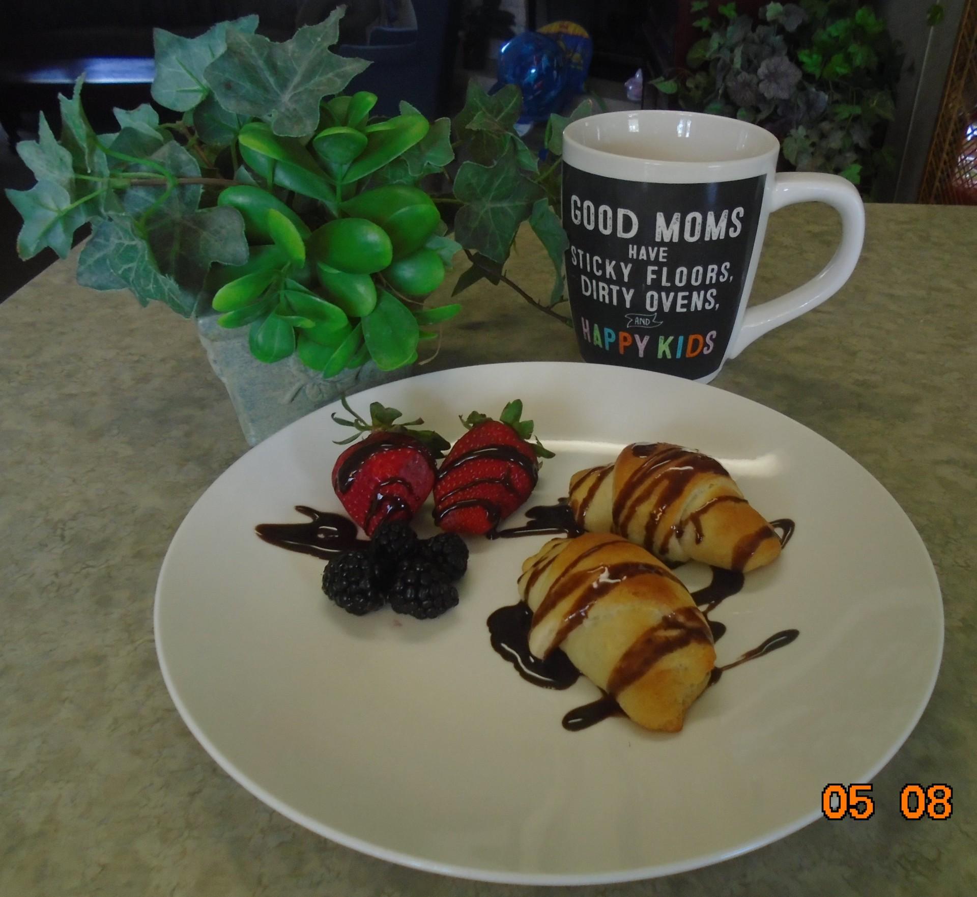 Chocolate Blackberry Croissants