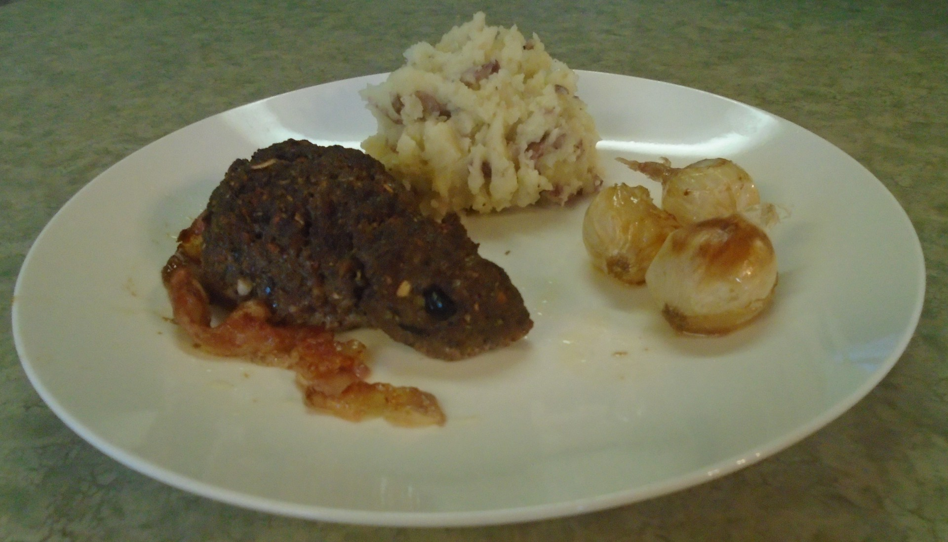 Rat Meatloaf and Garlic Mashed Potatoes