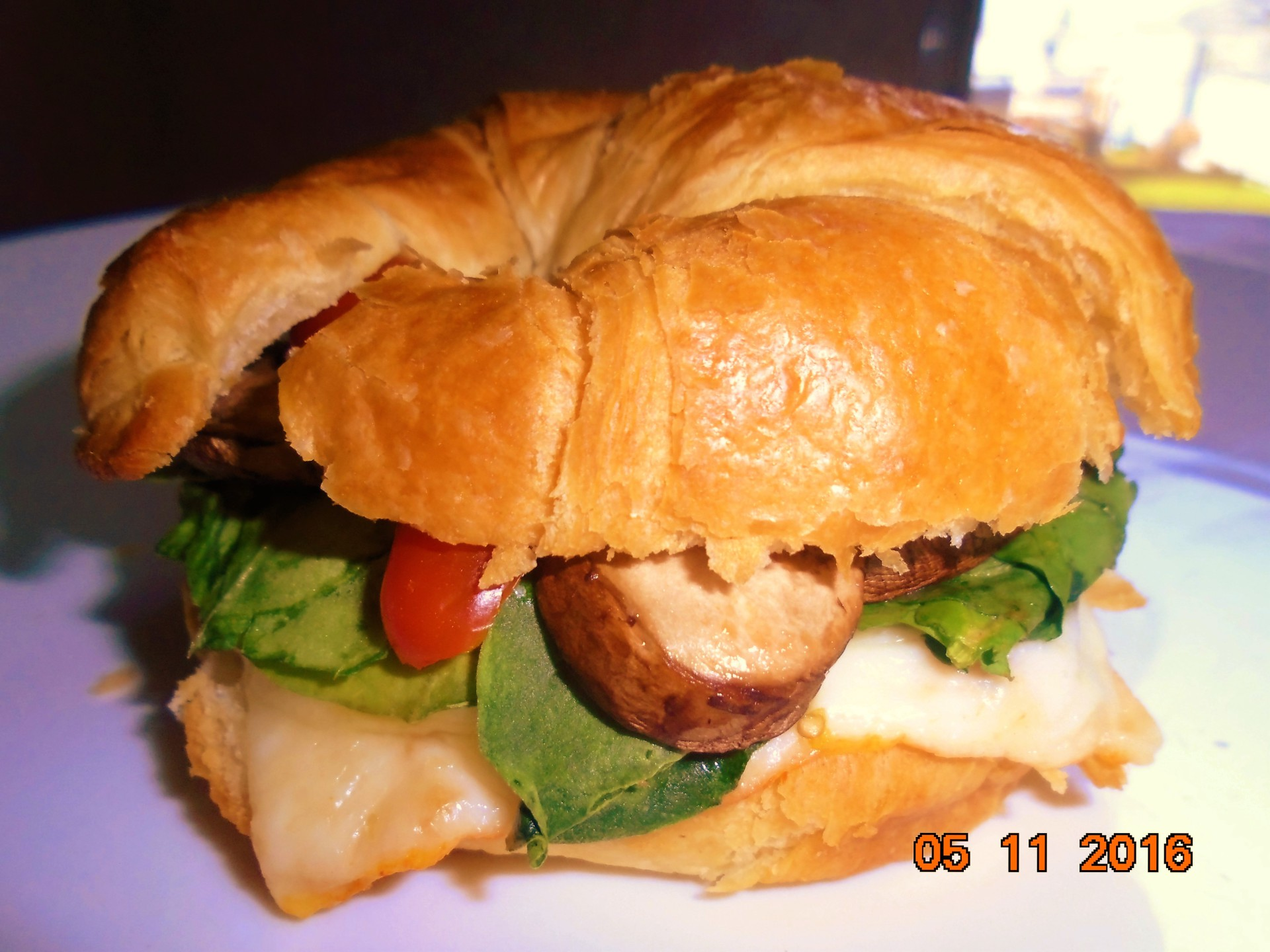 Salmon Croissantwich