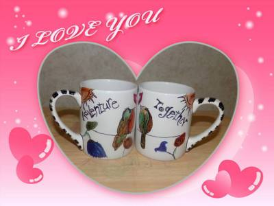 Sharpie Decorated Coffee Mugs