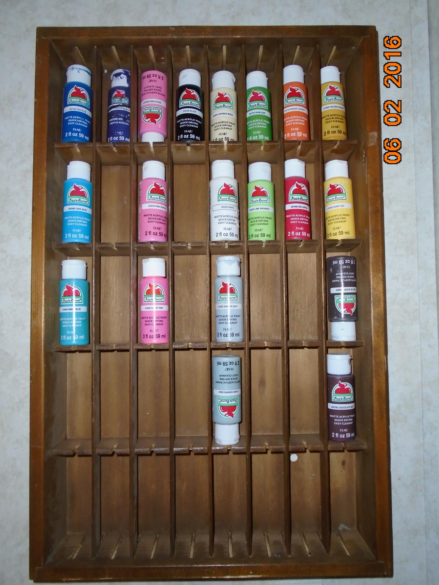 Small Acrylic Paint Bottle Storage