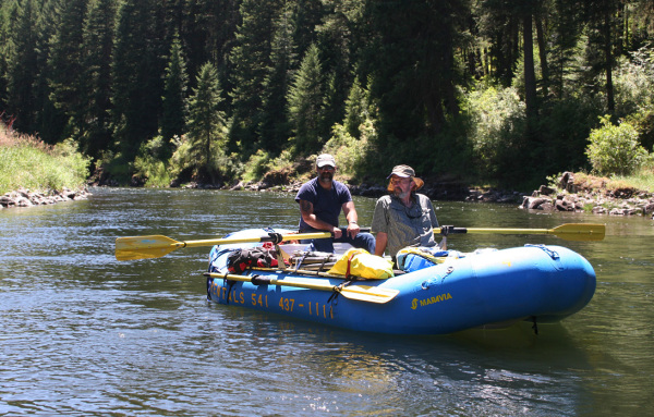 Surveying down the Grande Ronde River