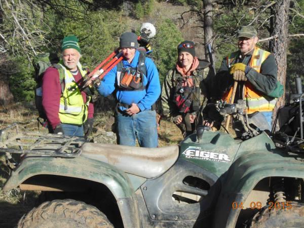 Lower Joseph Canyon Crew: Rod Lewis, Kristina Powell, Brenda Johnson and Steve Haddock