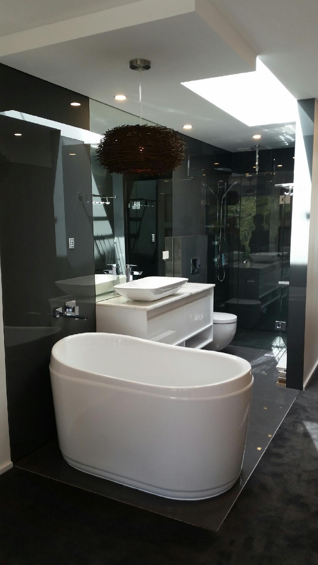 Full glass bathroom