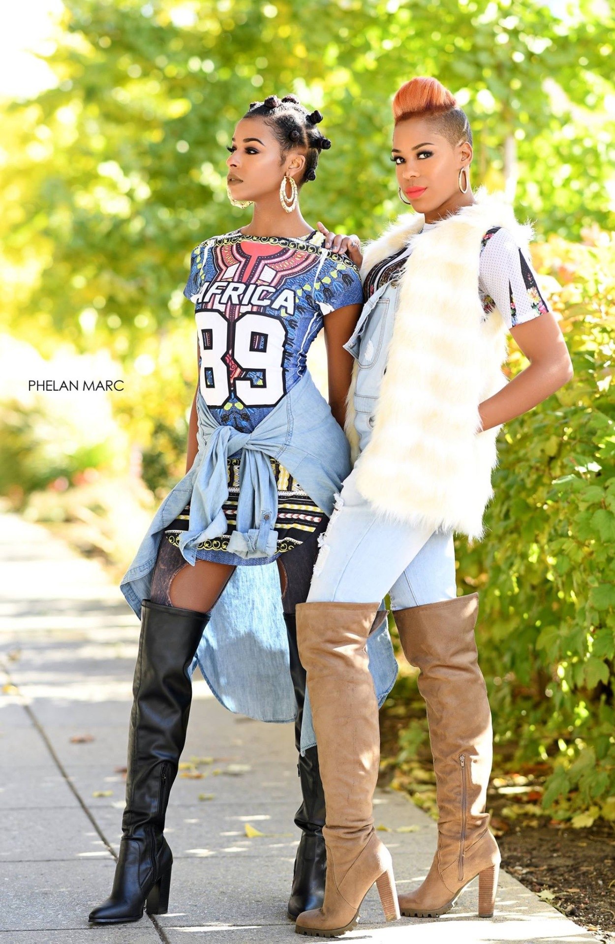 models: (L) dominique davis (drd artistry) (R) katelyn elaine
