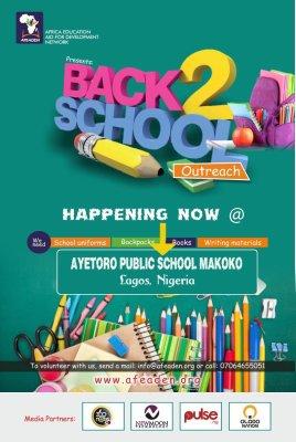 Back to school outreach Makoko Lagos