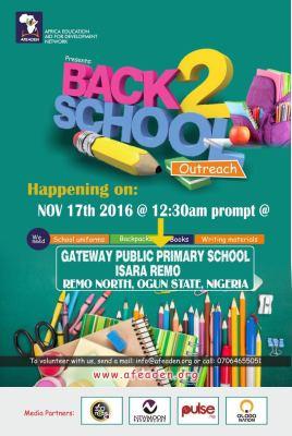 Back to school outreach Ogun state Nigeria