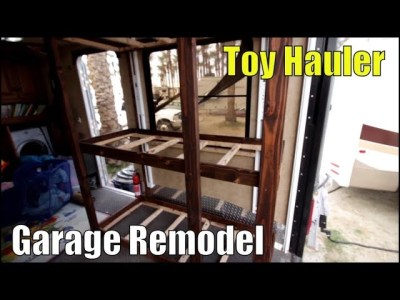 Toy Hauler Garage remodel to bunkhouse for under $200