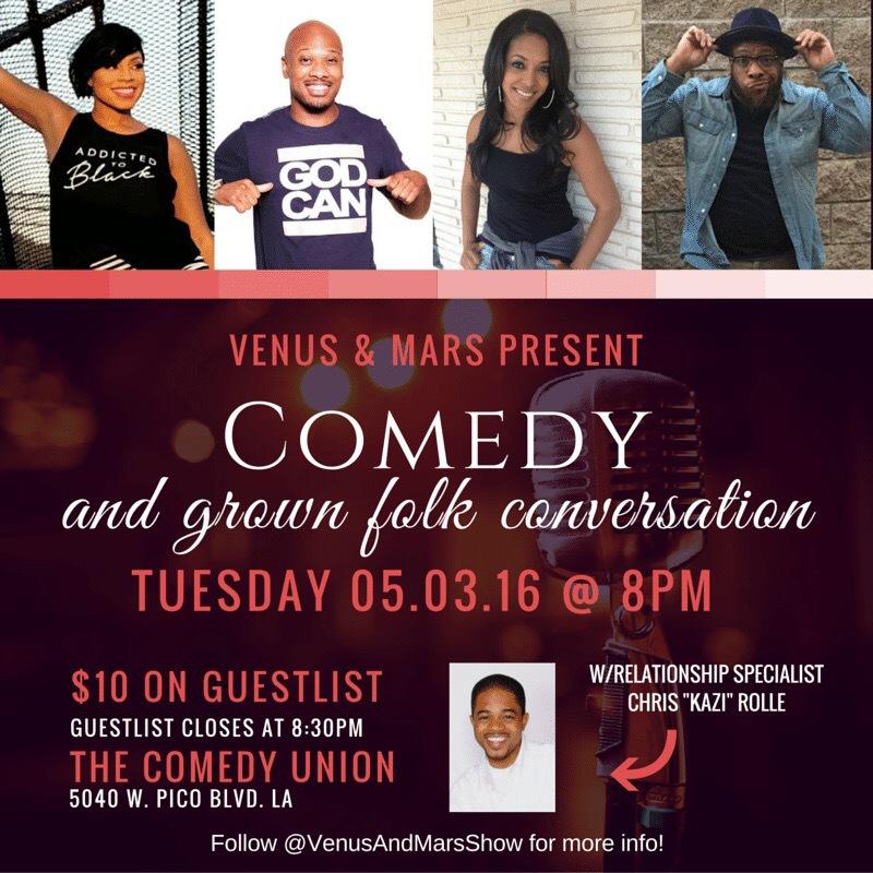 Venus & Mars Live Comedy Show & Grown Folks Conversation