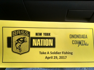 2017 Take A Soldier Fishing (Oneida Lake)