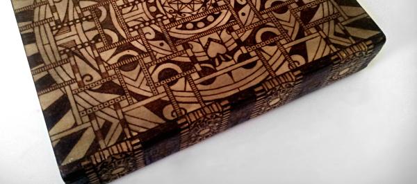 geometric sugar skull mandala box