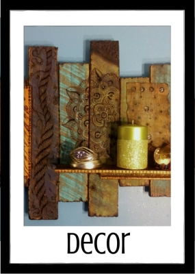 wood burned artisan home decor collection