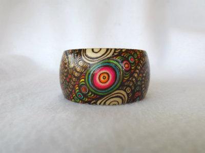 rainbow fractal bangle