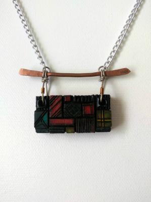 fine art pyrography necklace