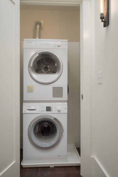 All three units are equipped with bosh washer and dryer (including detergents) for your convenience