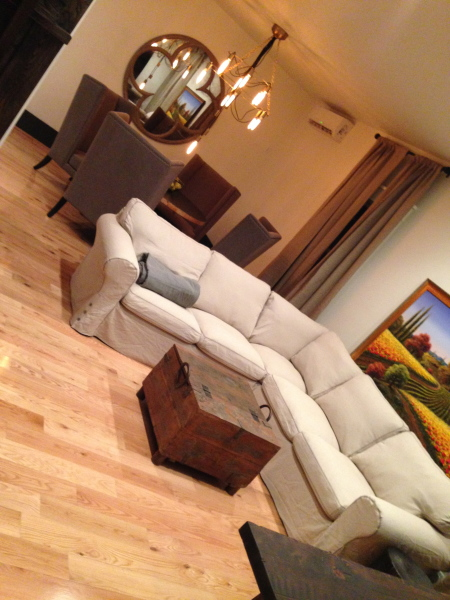 The Montauk ~ Living area with flat screen TV