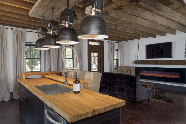 The SoHo ~ Inviting Industrial kitchen with a HUGE island for entertaining