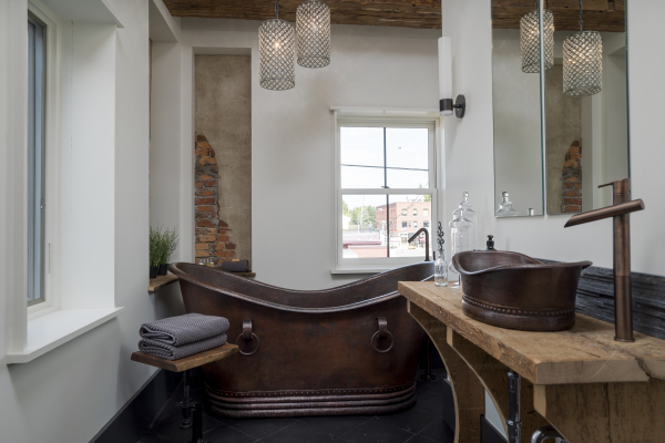 The SoHo ~ Customized European bath with soaking tub and separate shower