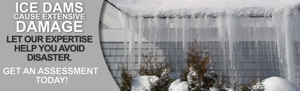 Ice damming may cause severe damage to your home.