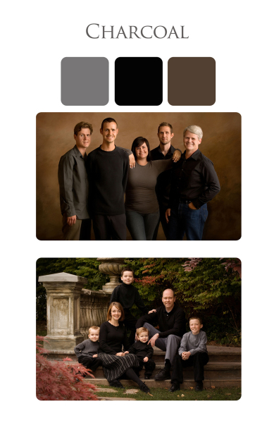 Clothing suggestions for family portraits outdoors