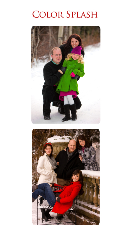 Clothing suggestions for a winter outdoor family portrait