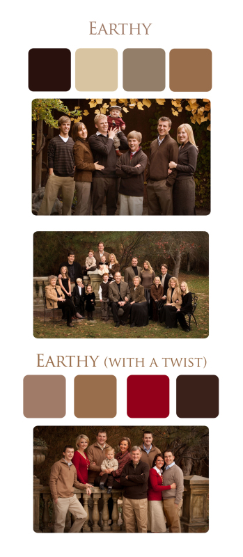 Clothing suggestions for family portraits -earthy look