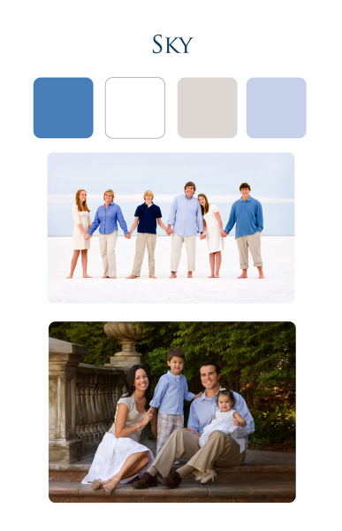clothing suggestions for family beach portraits