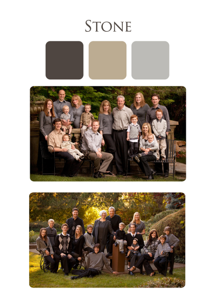 clothing suggestions for fall outdoor family  portraits