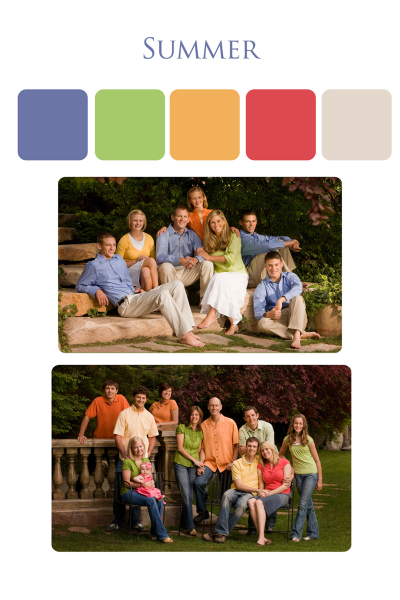 clothing suggestions for family portrait outdoors