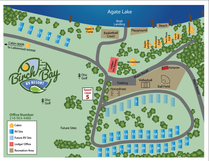 Birch Bay RV Resort Map