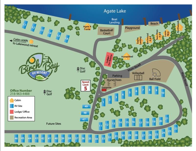 Birch Bay RV Resort Map