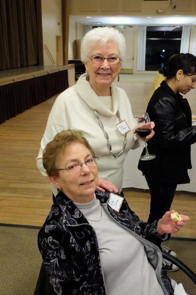 Judy Sannar (seated) and Kathy Bateman