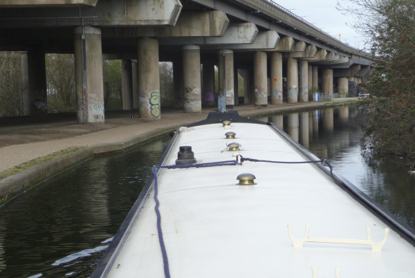 Under the M6 motorway, Birmingham & Fazeley Canal
