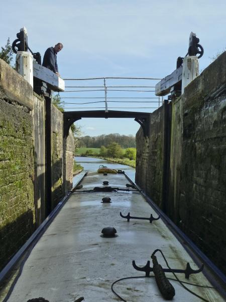 In a lock on the Shropshire Union Canal