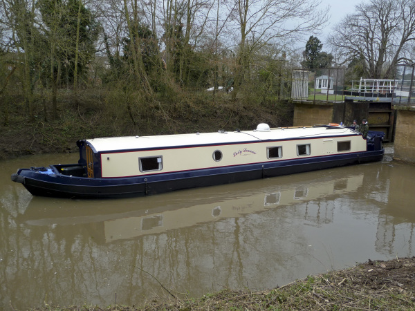 Widebeam on the River Avon
